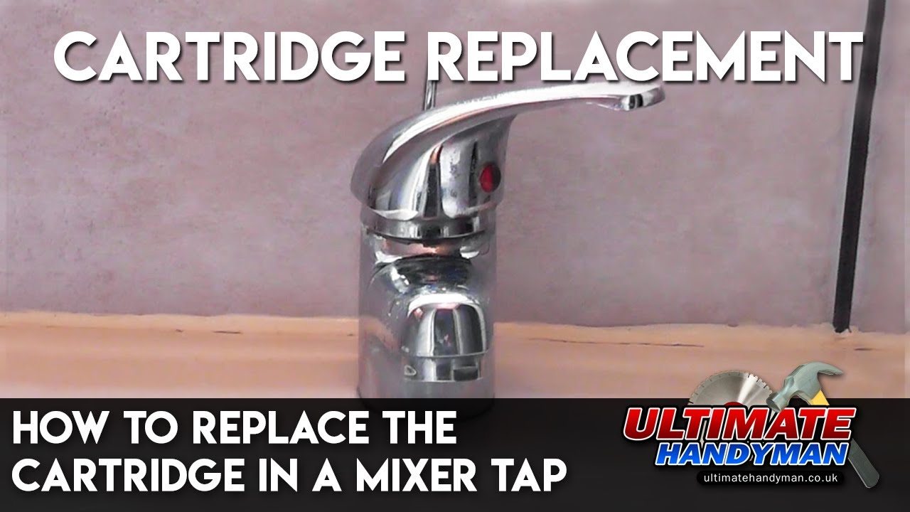 kohler kitchen faucet leaking big islands how to replace the cartridge in a mixer tap - youtube
