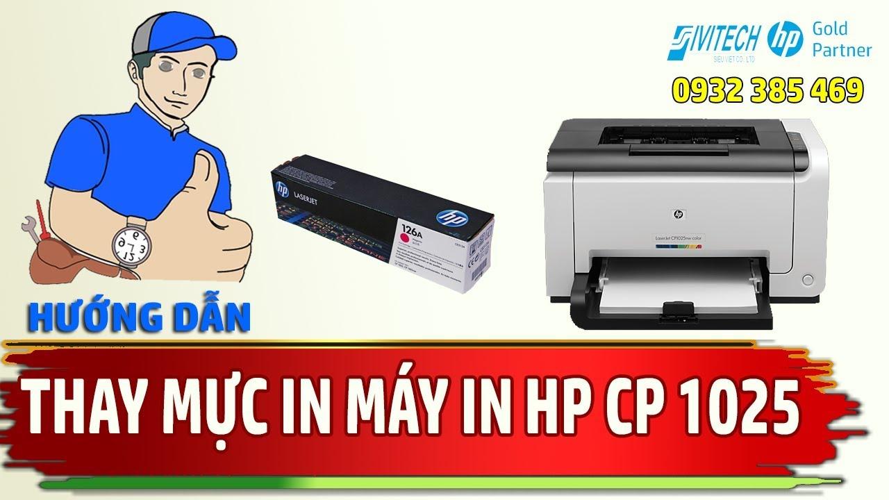 Hướng Dẫn Tháo Lắp Thay Thế Hộp Mực In Cho Máy In Laser màu HP CP1025 Printer toner Cartridge