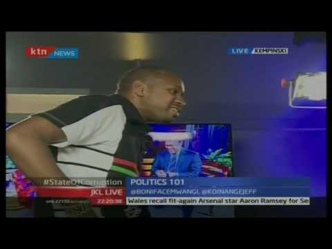 Activist Boniface Mwangi walks out of Jeff Koinange Live