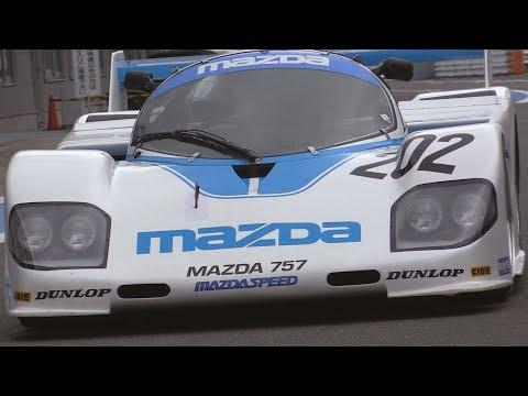MAZDA 757 LM (1987) in JAPAN / Racing Rotary Fan Meeting 2017 / 3 ...