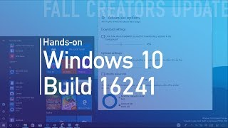 Windows 10 build 16241: Hands-on with password recovery, update bandwidth control, Fluent Design