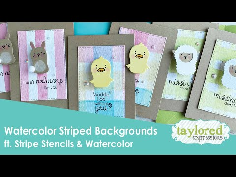 Watercolor Striped Backgrounds