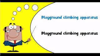 English Vocabulary #theme = Playground Equipment