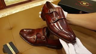 Cùng Armadino mở hộp giày Double Monk Strap đế da cao cấp