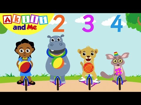 Learn the Number 4! | Akili and Me | Educational Cartoons for Preschoolers
