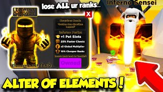 MASTERING THE ELEMENTS IN THE ALTER OF ELEMENTS NINJA LEGENDS UPDATE AND BECOMING OP!! (Roblox)