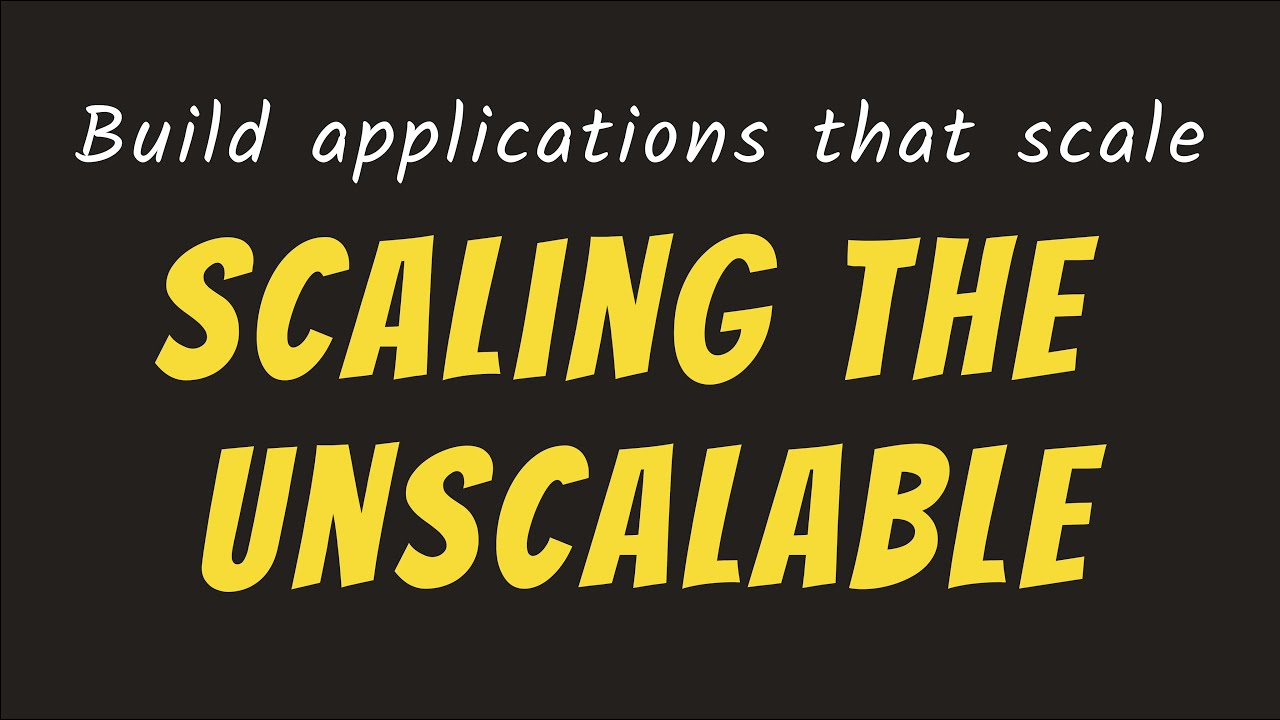 Scaling an Application   System Design