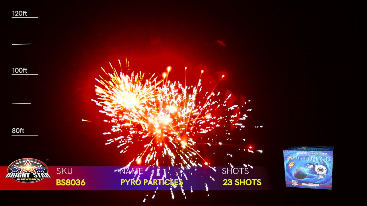 PYRO PARTICLES BS8036 BRIGHT STAR FIREWORKS 2022 NEW ITEMS