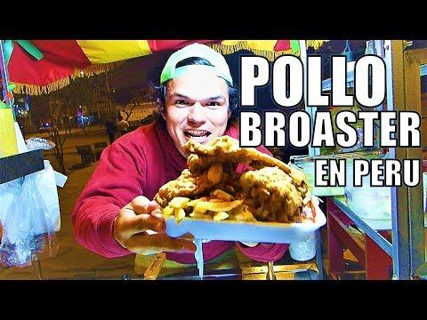 Como servir Pollo Broaster  - Venezolanos en Peru
