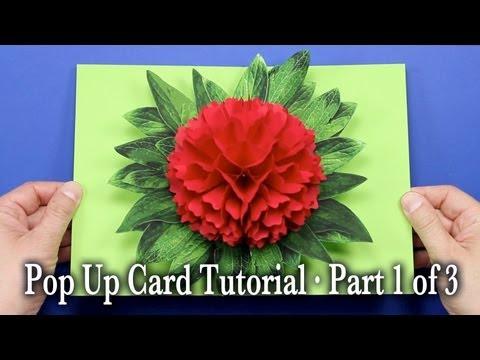 Flower Pop Up Card Tutorial Part 1 of 3