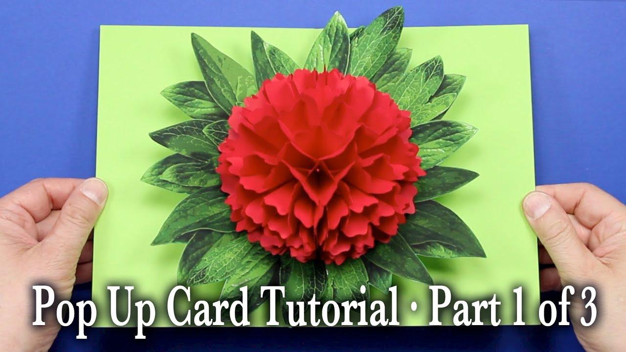 pop up paper flower card