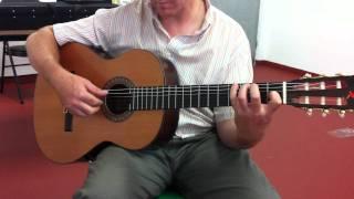 Guajira con guitarra clásica