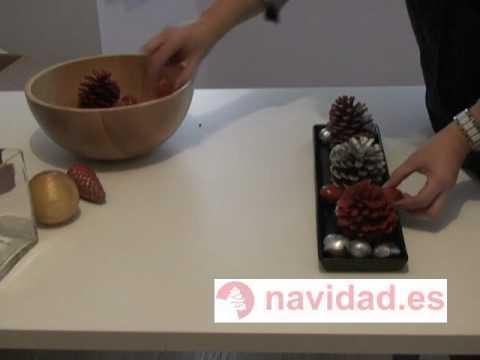 Manualidad navide a centros de mesa decorativos para - Mesa de navidad ...