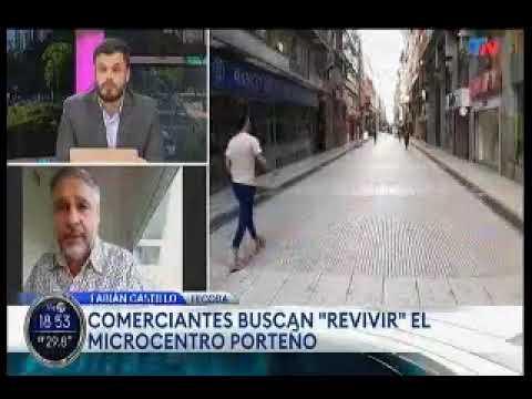 TN - Comerciantes buscan revivir el microcentro porteño - Entrevista al Presidente de FECOBA