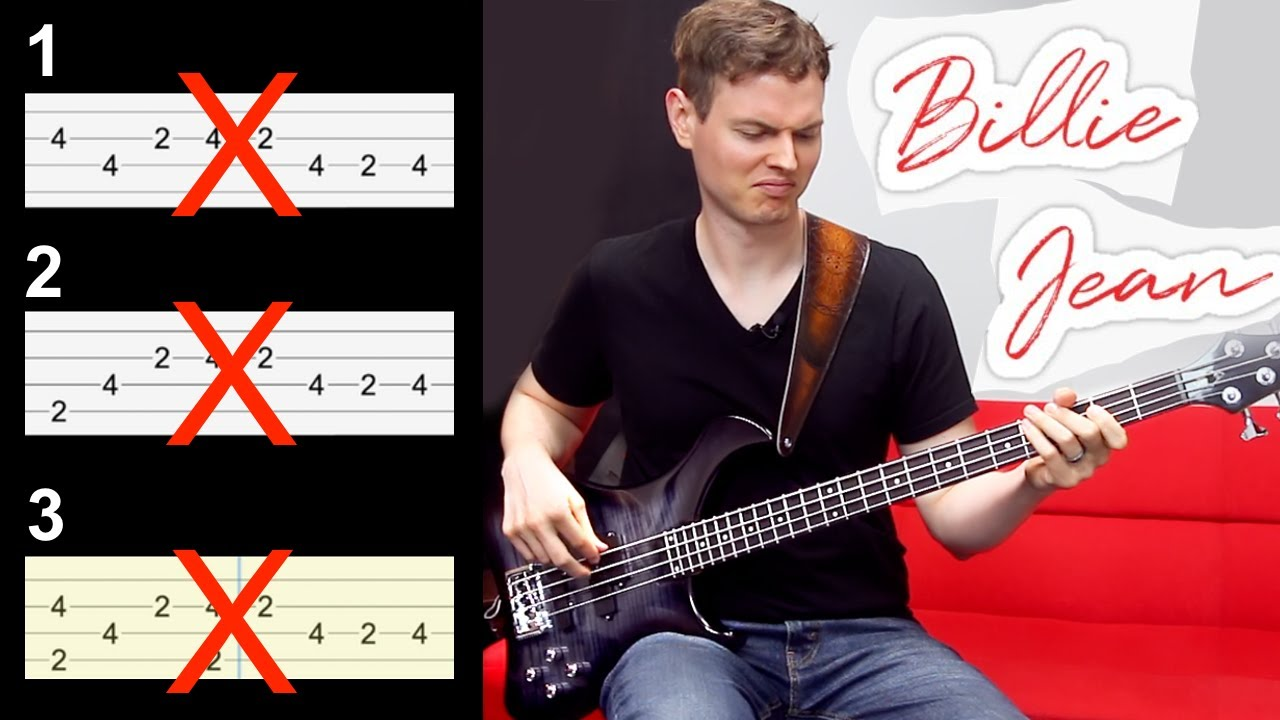 Michael Jackson - Billie Jean... Playing it the RIGHT Way?!? // BASS COVER + Play-Along Tabs
