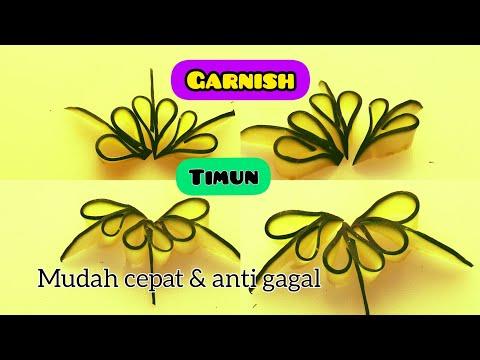 GARNISH TIMUN  Mudah Cepat Dan Anti Gagal   How To Make Cucumber Garnish