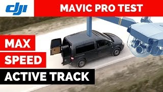 Mavic Pro Active Track MAX SPEED Test - How FAST will it go?
