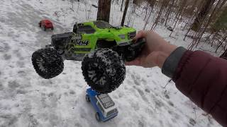 Arrma Granite 4x4 3S  Brushless Bashing the Trails! - Netcruzer RC