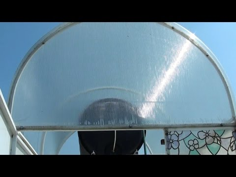Летний душ из поликарбоната своими руками