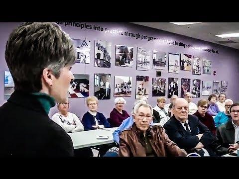 Iowa Voters LAUGH In Joni Ernst's Face When She Defends Trump