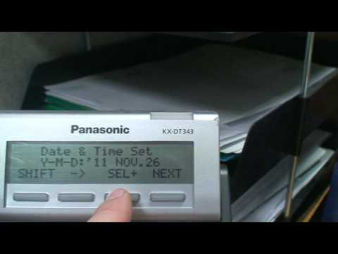 Change The Time On A Panasonic Kx Tda Or Kx Ncp Telephone System