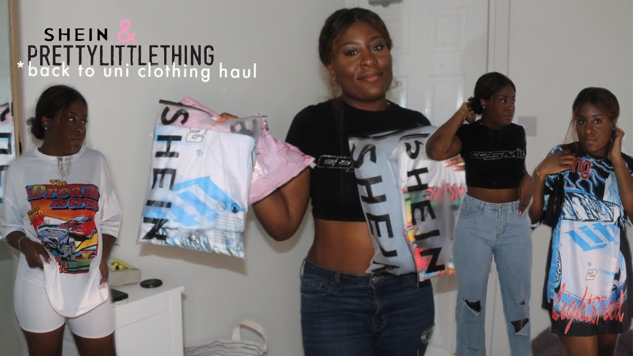 SHEIN AND PRETTYLITTLETHING TRY ON HAUL| University Edition