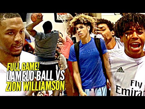 LaMelo Ball vs Zion Williamson FULL GAME! The BIGGEST GAME of The YEAR Made For The Internet!!