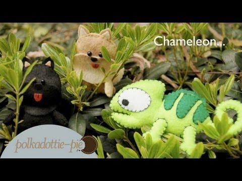 Diy Chameleon Felt Plush Inspired By Pascal From Tangled