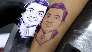 Tattoo Timelapse 1 - Mr. Bean por Warley Maia