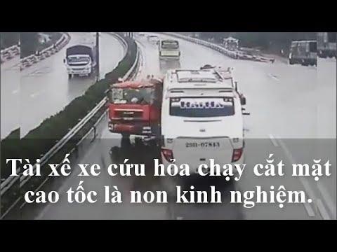 Vụ xe khách đâm xe cứu hỏa: Tài xế xe cứu hỏa non kinh nghiệm.