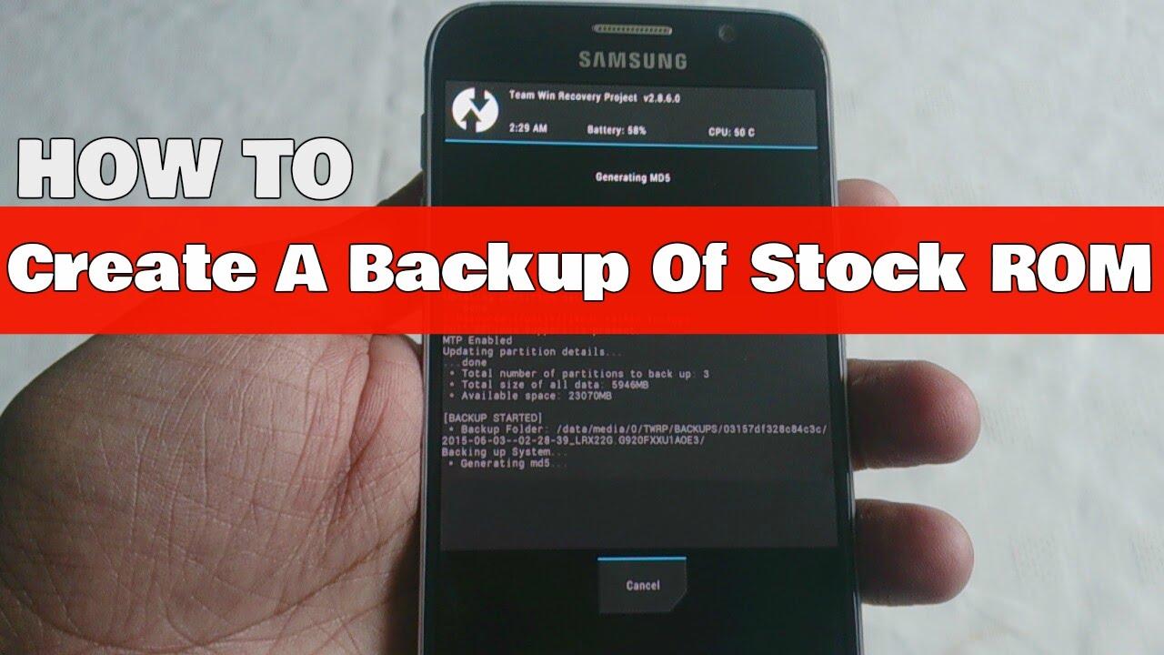 Backup Samsung Edge 6