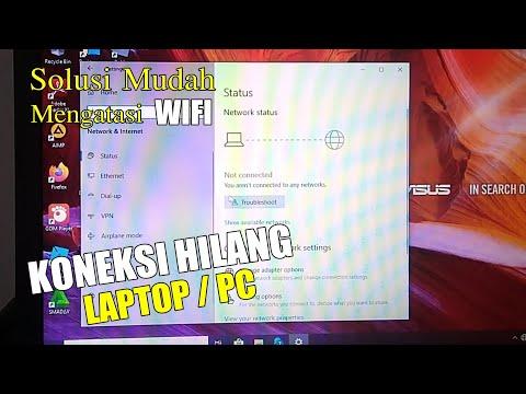 Mengatasi wifie yang hilang dengan mudah Dan cepat di Windows.