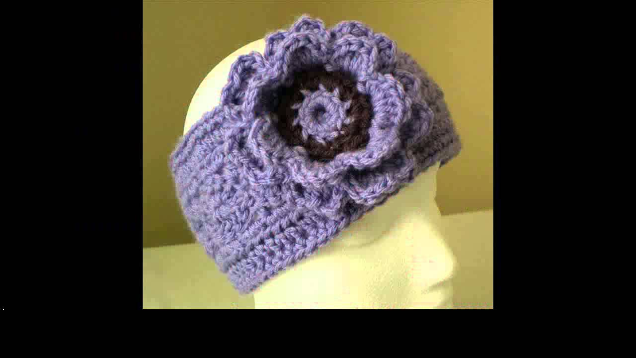 crochet headband ear warmer pattern - YouTube