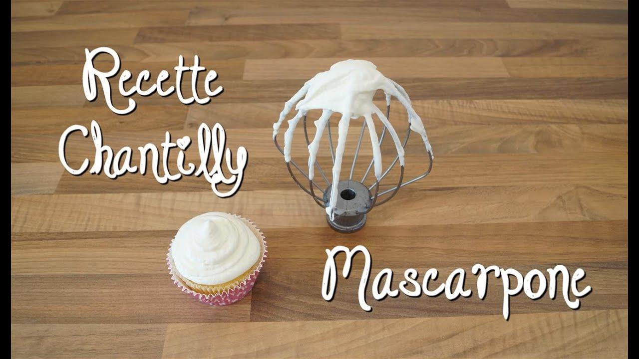 Recette facile chantilly mascarpone youtube - Comment cuisiner la mascarpone ...