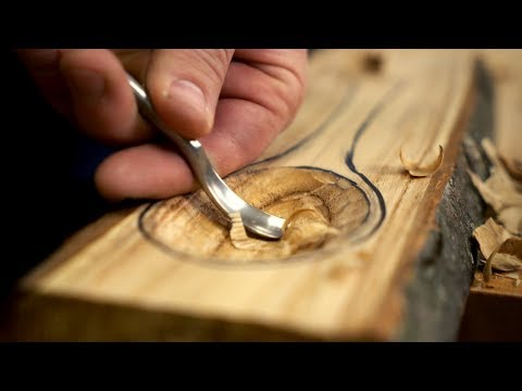 Carving A Spoon From The Endangered American Chestnut // Woodworking ASMR!!