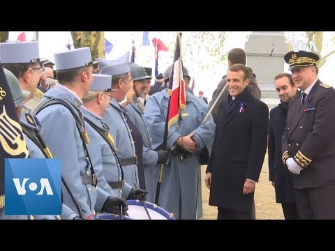 France's Macron attends ceremony honoring WWI soldiers