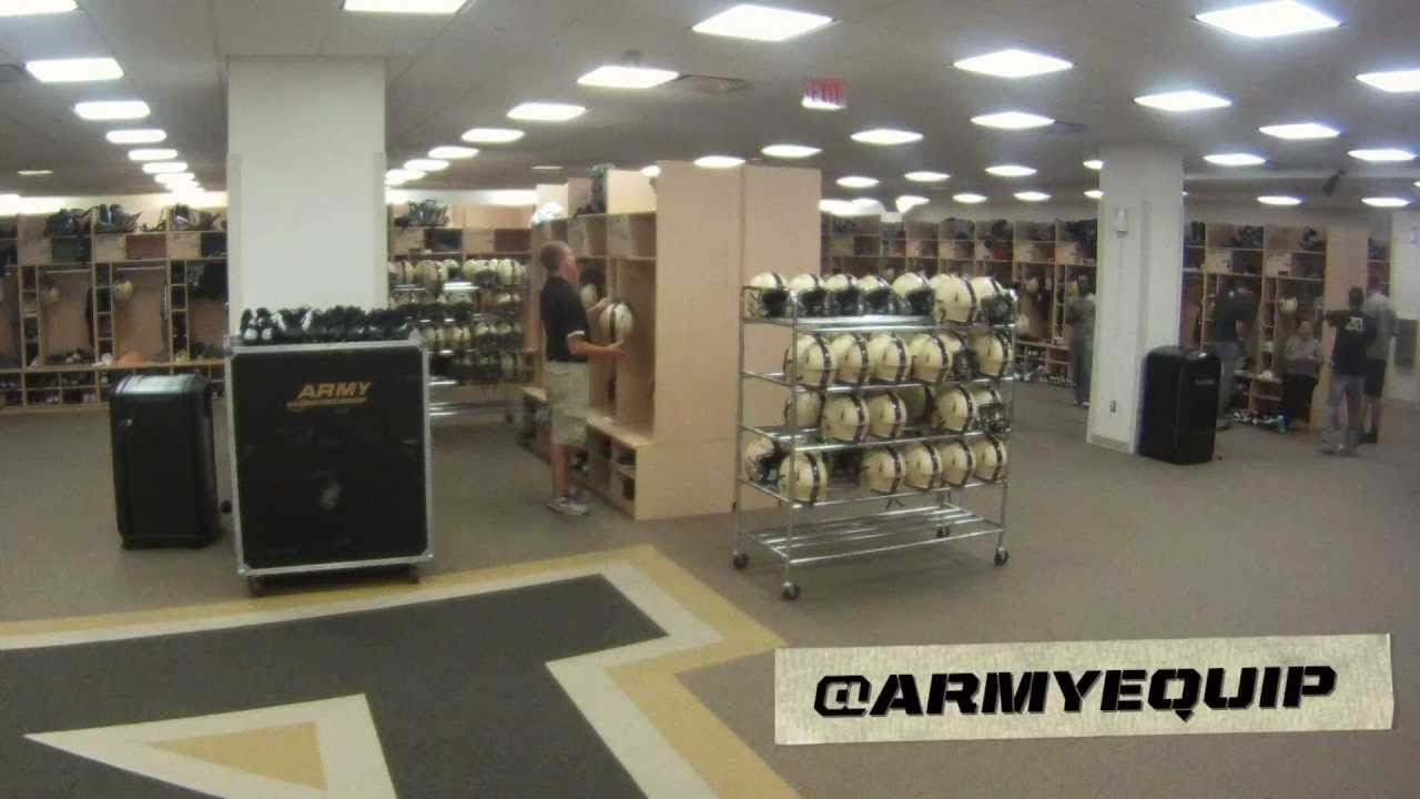 Army Football Equipment Locker Room Time Lapse Youtube