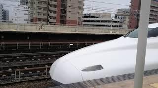 N700a  X40編成  全検明け試運転上り  三河安城駅発車