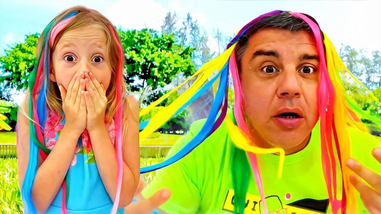 Nastya e estranho sonho de cabelos coloridos