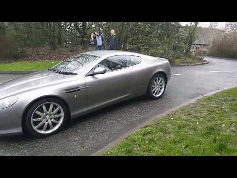 ASTON MARTIN DB9 LAUNCH CONTROL MOMENTS BEFORE CRASH !!