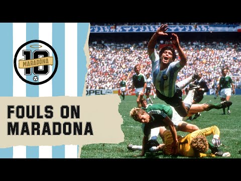 Crazy Fouls On Diego Maradona   FIFA World Cup