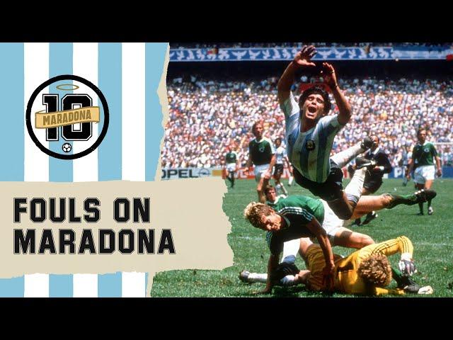 Crazy Fouls On Diego Maradona | FIFA World Cup