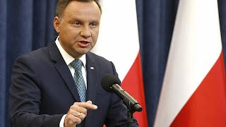 Polish President Andrzej Duda says he will veto controversial top court reform bill