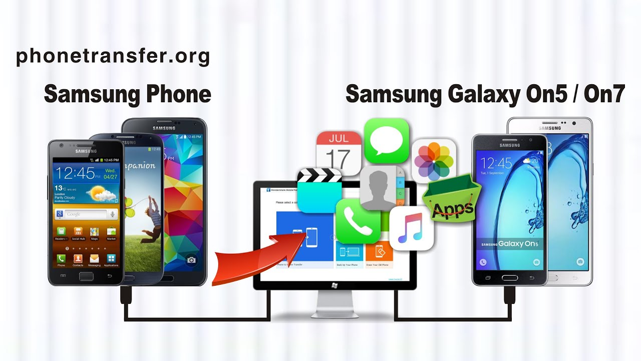 How To Transfer All Data From Samsung Phone To Samsung Galaxy On5 Galaxy On7 Youtube