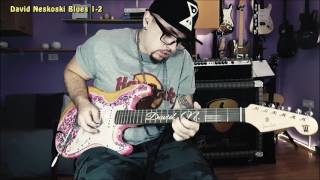 awesome guitar solo by david neskoski jamming with a cbg blues track