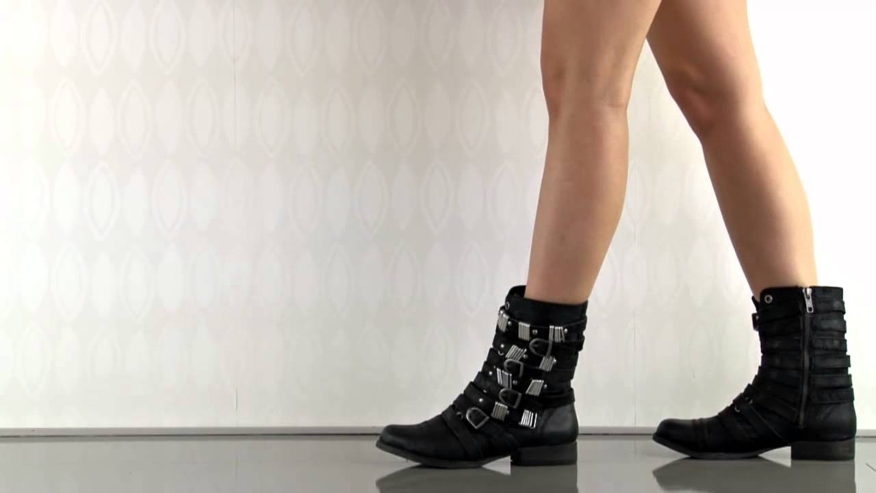 342f490a346e7 Tyrantt in Black Leather Steve Madden - YouTube