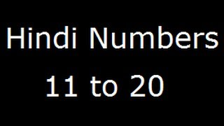 #1 hindi numbers 11-30 Free Download Video Plans