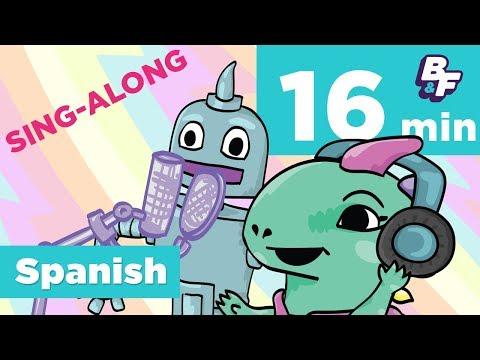 Basho's Beginner Spanish Karaoke Mixtape - Sing-Along Compilation | BASHO & FRIENDS Learning Songs