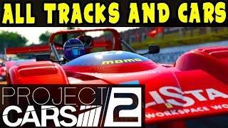 PROJECT CARS 2 GAMEPLAY: All Tracks, All Cars, All Liveries! LIVE STREAM with Chat!