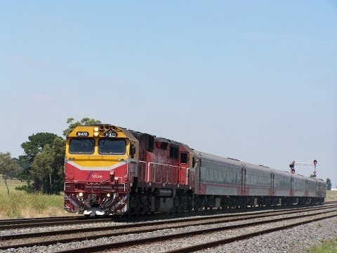 Trains around Melbourne including freight Trains